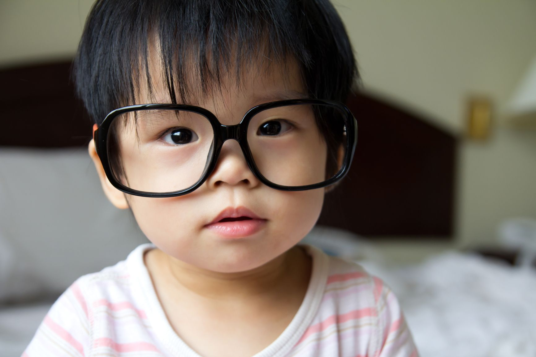 Cute St Petersburg doula baby with glasses
