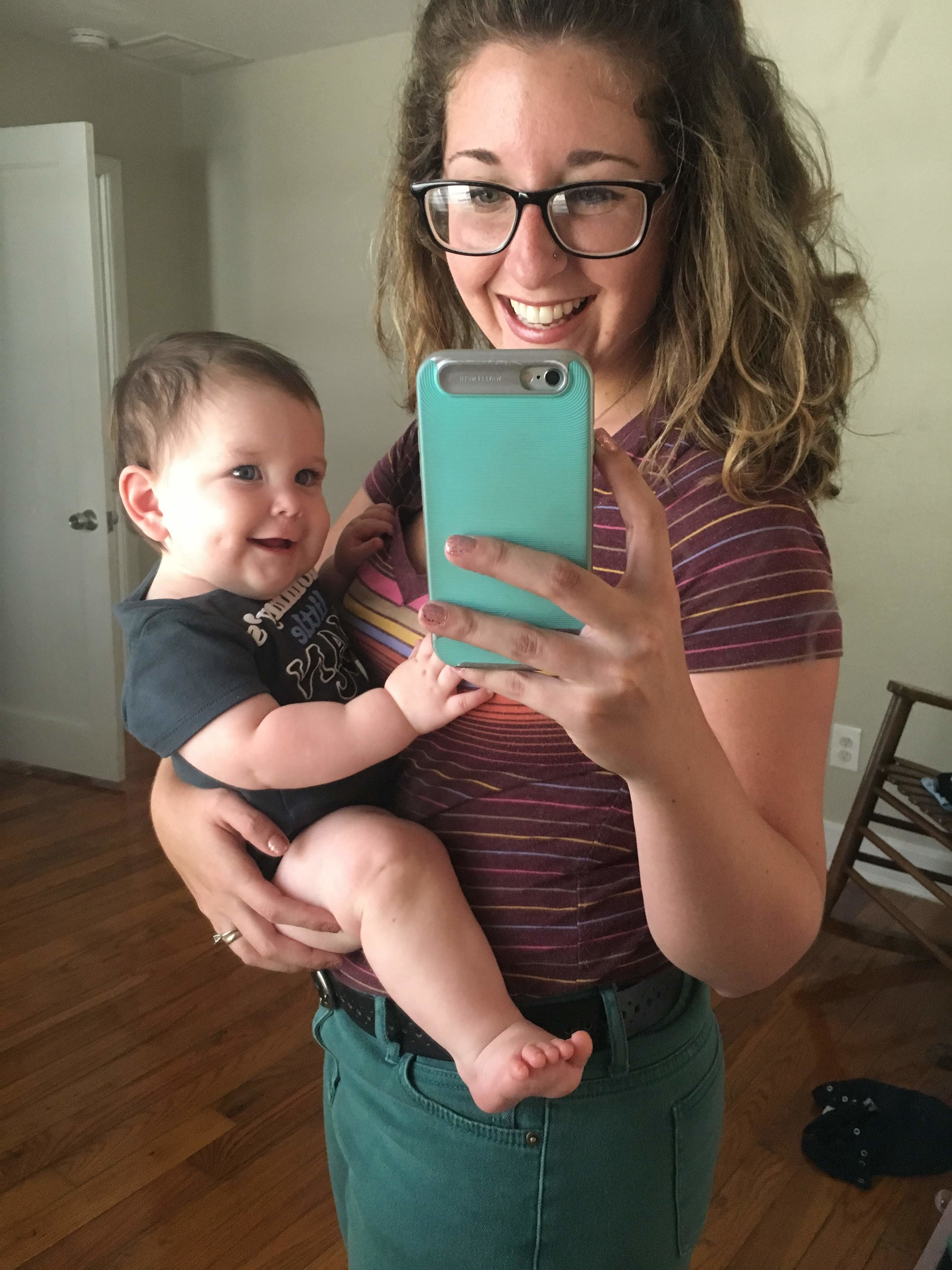 Nine month old Matthew and mom, St. Pete doula